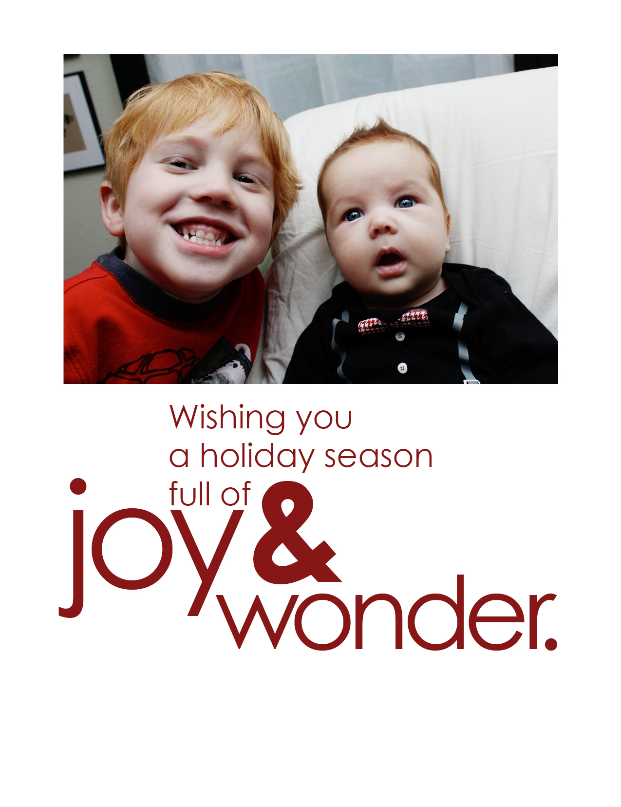 2011 Christmas Card—probably my favorite yet.
